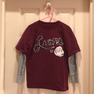 Gap Kids XS 4-5 boys Lions maroon shirt